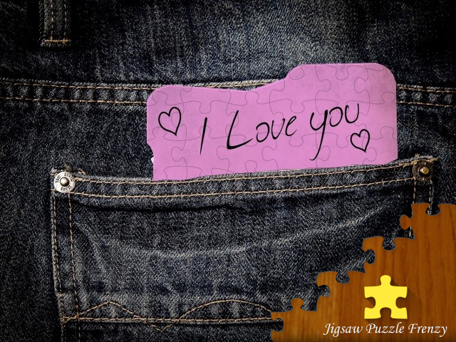 "Puzzle from ""Love"" pack showing an idea of love notes for Valentine's"