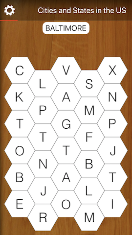 Hexa Word Search