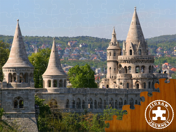 The Fisherman's Bastion at a distance - Budapest Puzzle Pack