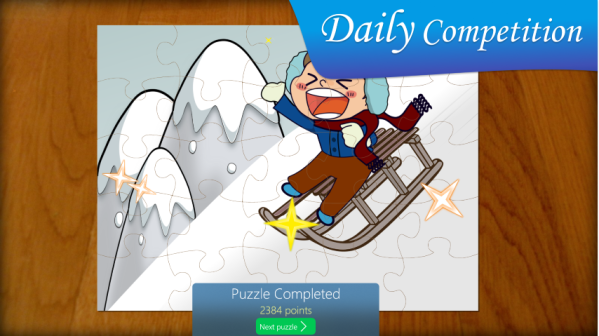 Daily Competition in Jigsaw Puzzle Kids